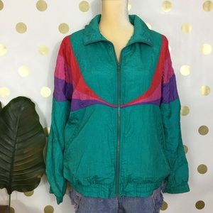 Vintage 90's unisex windbreaker colorblock